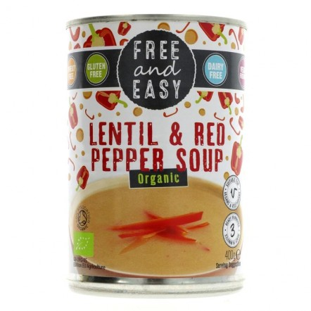 Free and Easy Lentil & Red Pepper Soup
