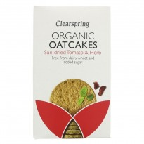 Clearspring Oatcakes Sun Dried Tomato & Herb