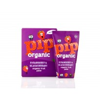 Pip organic strawberry & blackcurrant juice